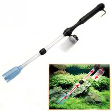 Aquarium Water Filter Cleaner Battery Syphon Operated Fish Tank Vacuum Gravel Cleaner Aquatic Pet Cleaning Tool(China)