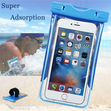 Clear Waterproof Pouch Cell Phone For LG leon magna v10 spirit k8 k7 l90 l70 Case Cover Camera Dry Bag Mobile Waterproof Pocket