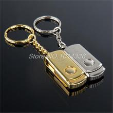 Premium Compact Stainless silver/gold steel 2GB -32GB USB Flash Drive/U Disk/creative Pendrive/USB Flash Drive/Disk/Gift(China)