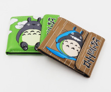 Anime My Neighbor Totoro leather wallet Bifold Holder Layers short pu Purses