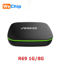 Wechip R69 Android 4.4 Smart Tv box Android TV Box allwinner H2 (1.5GHZ) Quad-Core 1G 8G 2.4GHz WiFi 2.11 b/g BT 4.0 PK X96(China)