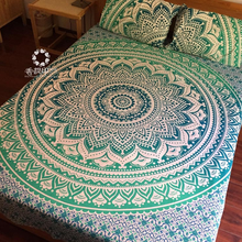 100% Cotton Bedding Set Queen Size Indian Mandala Bedding Set Cotton Linens Bed-clothes Set Fabrics Quarto Sheet Adult Bedcover