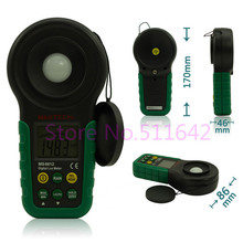 Mastech MS6612 Digital Luxmeter Illuminometer Light Meter Foot Candle Auto Range Peak 200000 Lux(China)