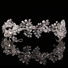 2017 Baroque crown Gold/Silver handmade rhinestone headband vintage bridal hair accessories headwear accessories crown and tiara(China)