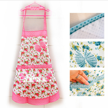 Household butterfly Korean fashion waterproof aprons custom 5 colors with Pocket For Women Girls Cooking Bib Apron