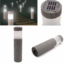 Outdoor Stone Pillar Solar Power LED Path Way LED Solar Light Lawn Landscape Wall Outdoor Fence Garden Light