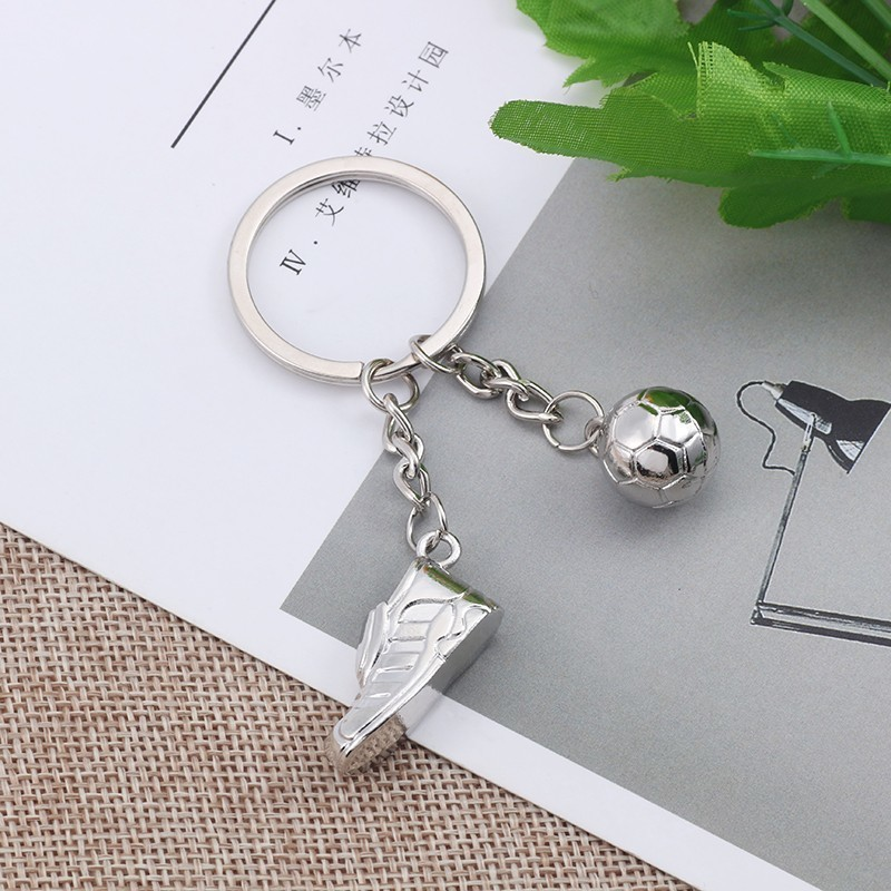 3D-Silver-Football-Keychain-Fashion-World-Soccer-Shoes-Key-Chain-Unisex-Sport-Jewelry-For-Fans-Souvenir