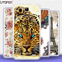 "Coque For Oukitel C3 Case Transparent Silicon TPU Cover Mandala cartoon lion cat Case For Oukitel C 3 5.0 ""telephone case Fundas(China)"