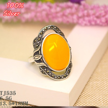 100% 925 Sterling-Silver-Jewelry Adjustable Oavl Ring Blank Fit 13.5*18MM Setting Gemstone Tray Antique Silver Plate