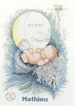 Fishxx Cross-Stitch,A088cartoon Conch baby]Baby thread and cloth,printing,100% accurate pattern,11CT,(China)