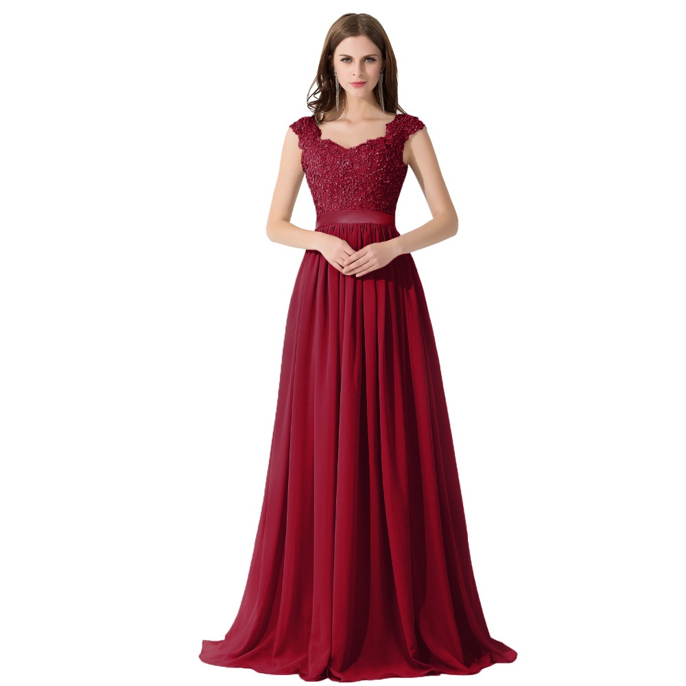 Formal-A-Line-Burgundy-Cap-Sleeve-Chiffon-Evening-Dresses-Long-2017-Sexy-See-Through-Party-Dress (1)