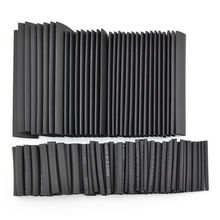 127pcs/set Assorted Heat Shrink Tube Black Wire Wrap Electrical Insulation Cable Sleeving 2-13mm