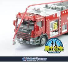 2014 car model toys full alloy fire engine police car fire truck free shipping Full metal fire truck alloy 119 fire truck