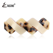 10 Colors Women Fashion Barrettes Twisted Hair Clips Cellulose Acetate Hair Accessories Geometric Hairwear Tiara (AG810032)