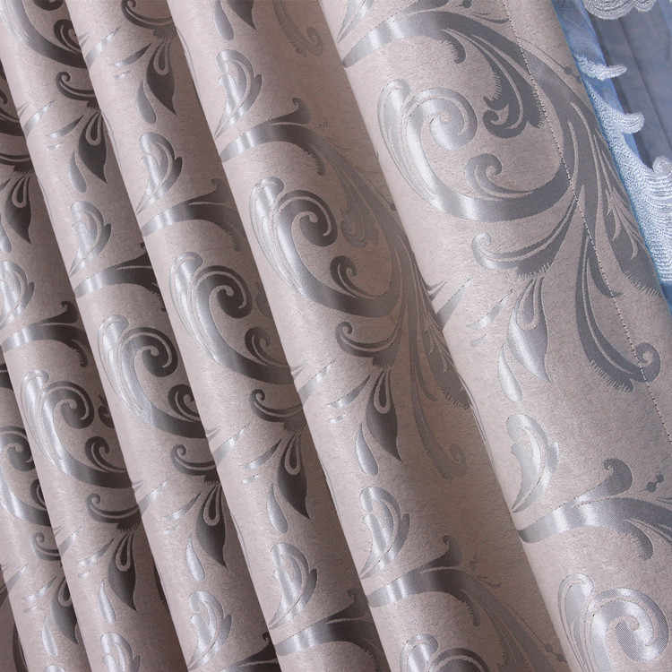 Fashion balcony whole double faced jacquard window curtain cloth thicken sunscreen shading/gauze fabrics curtains