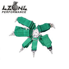 LZONE RACING - 6 POINT KATA Style Seat Belt with 4pcs FIA 2017 Harness/Racing Satefy Seat Belt/width:3 inches/6POINT JR-SB36(China)