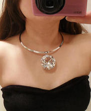 2015  European and American New exaggerated large crystal necklace 12PCS/LOT