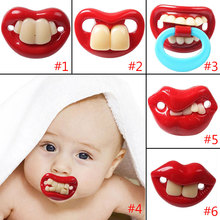 Top Silicone Funny Nipple Dummy Soother Joke Prank Toddler Pacy Orthodontic Nipples Teether Baby Pacifier Care High Quality
