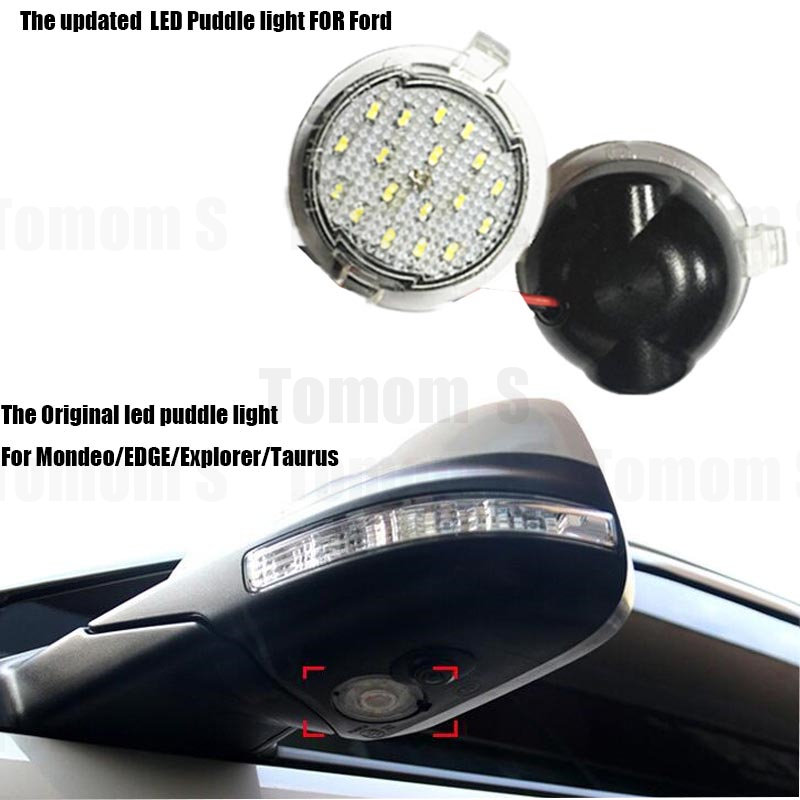 Free shipping 2x LED Under Mirror Light For Ford Taurus Mondeo led puddle light Turn signal lamp Car-styling auto lighting bulbs<br><br>Aliexpress