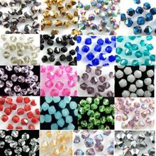 TOP quality 4mm 200pcs AAA Bicone Upscale Austrian crystals beads loose ball supply AB color plating Jewelry Making DIY(China)