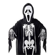 Unisex Halloween Costumes Cosplay Ghost Terror Skeleton Clothing Suit Skull Adult Loose Reenactment Women Men Fancy Robe