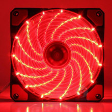 New style engine 12 cm fan desktop host mute LED PWM intelligent temperature control 9 flare cooling fan blades Fans & Cooling(China)