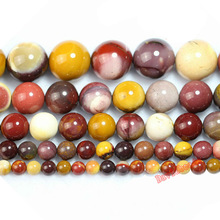 "Factory price  Natural Stone Mookaite Round Beads 16"" Strand 4 6 8 10 12MM Pick Size For Jewelry Making"