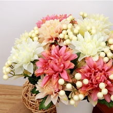 Artificial Flower Wedding Home Decor Bouquet Dahlia Silk Flower Fake Flower
