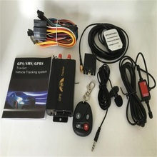 10pcs GSM GPRS Vehicle Tracker TK103B+ overspeed, low battery,power off and gps blind spot alert with Box(China)
