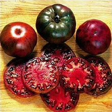100 Seeds / pack, Black Krim Tomato Russina Heirloom Seeds Fine Textured Flesh Large Tomato #A00251(China)