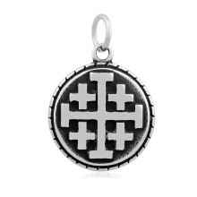 Minimal New Multi-layer Compound Cross Religious Stainless Steel Fashion Jewelry 19*29 mm Pendants For Bracelets & Necklaces(China)