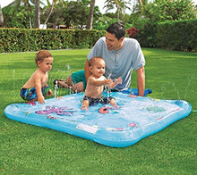Baby wading swimming pool kiddie squirt fun pool outdoor squirt&splash water spray mat for toddlers simple instant set up(China)