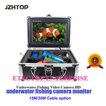 15m Cable Waterproof HD1200TVL Mini Fishing Video Camera Underwater Video Kamera W/ Aluminum Carry Case(China)