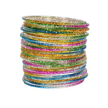 Buy Wholesale 50pcs/Lot Colorful Loop Bracelet Alloy Thin Circle Bangle Chromatic Aluminum Charm Cuff Bracelet Women Children for $3.52 in AliExpress store