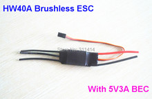 1piece 40A ESC Brushless Motor Speed Controller With 3A / 5V BEC For RC Airplane Aircraft Helicopter