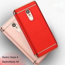 For Redmi Note 4 4X 360 Full Body Case for Xiaomi Redmi Note 4X Cover 3 in1 Design Detachable Plastic Hard Phone Sleeve Fundas