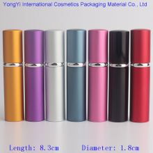 Hot Sale 1Pcs 5Ml Mini Cute Perfume Container Aluminum Atomizer Glass Liner Travel Portable Sprays For Perfume Free Shipping