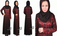 cotton jersey abaya Free Shipping islamic clothing & muslim Dress lace + chiffon-satin maxi dress muslim abaya cotton KJ-WAB8001(China)