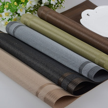 5colors 2pcs/lot western pad 30 * 45cm solid firm Western Hotel mats PVC wear non-slip kitchen placemat dining table placemats(China)