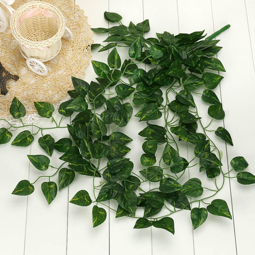 2017 my house artificial fake hanging vine plant leaves garland home garden wall decoration 17sep15