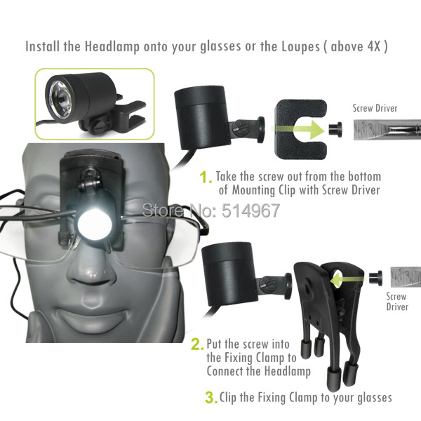 gain-express-gainexpress-Dental-Loupe-DLH-60-install