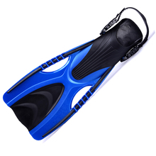 adjustable size swimming flippers Open heel diving fins, adult submersible long fins Snorkeling Flipper(China)
