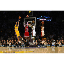 NICOLESHENTING Michael Jordan Kobe LeBron James Basketball Art Silk Fabric Poster Print Sports Picture for Room Wall Decor