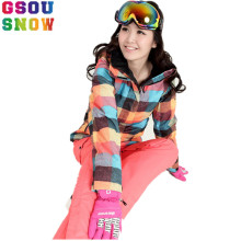 2016 Winter Gsou Snow Ski Jacket Women Outdoor Snowboard Jackets Windproof Waterproof Breathable Girls Snow Jackets Super Deal(China)