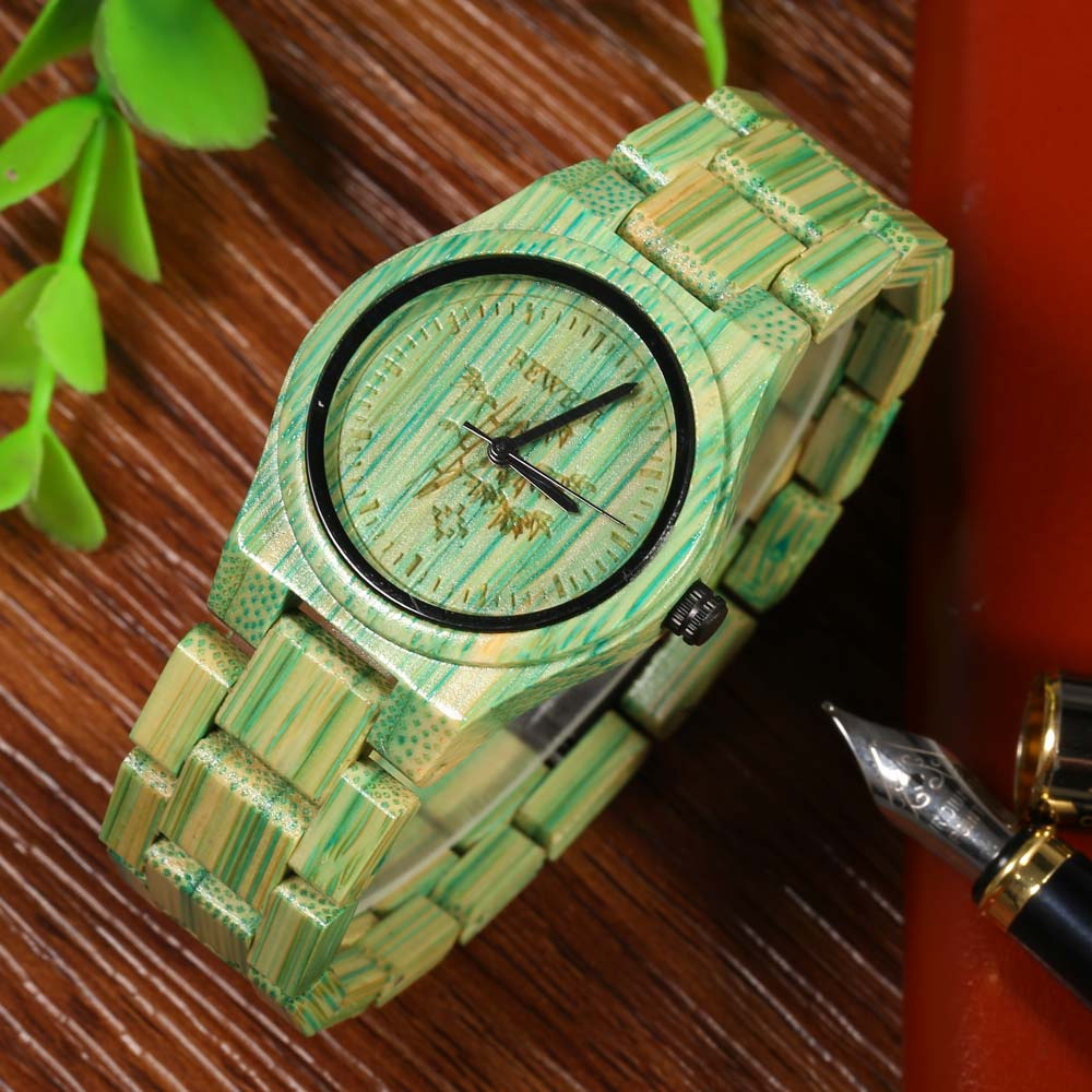 Full Bamboo Watch Women Luxury Brand BEWELL New Natural Quartz Wooden Bamboo Watch Female Clock Wood Watch With Bamboo Band <br>