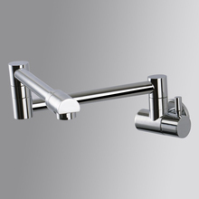 Free shipping Brass kitchen faucet Single Handle Pot Filler Faucet Swing Spout Wall Mount cold bathroom chrome tap SF405-a(China)