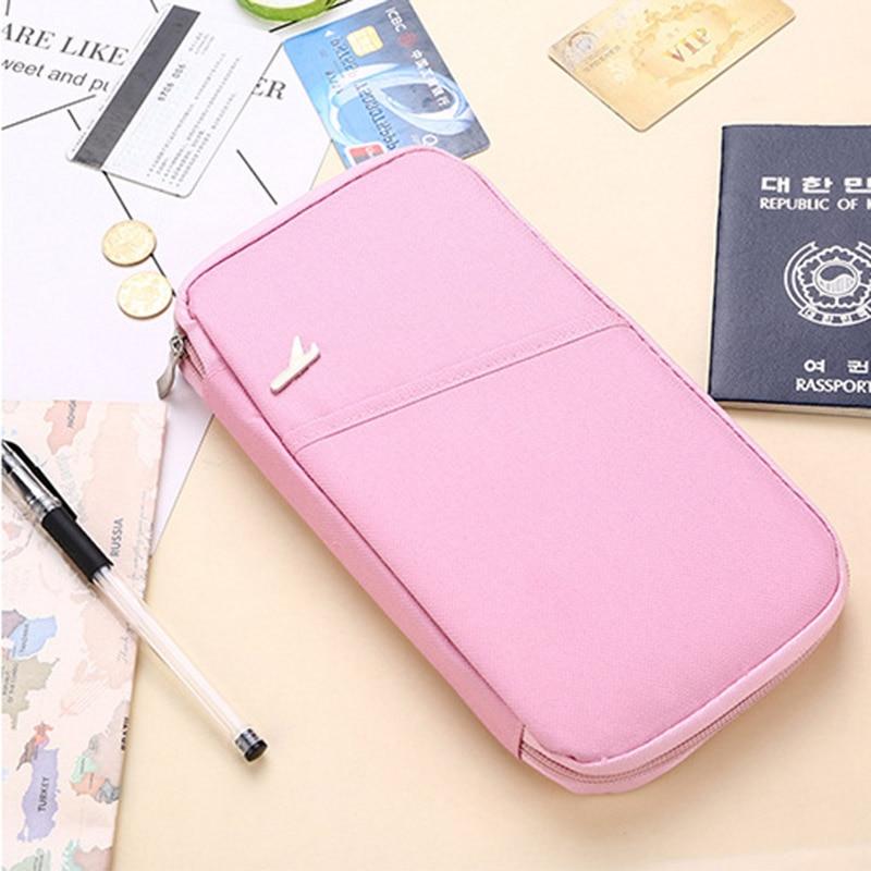Passport Cover Travel Credit ID Card Holder Cover Money Wallet Document Organizer Men Women Multifunction Passport Bag PC0050 (7)