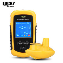 LUCKY FFW1108-1 Wireless Fish Finder LCD Display Sonar Sensor Transducer Depth Sounder Alarm Fish 40M/120FT Detector Neck Strap