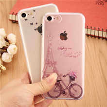 "Butterfly girl Marble Flower Phone Case for Apple Iphone 7 7 Plus 6 6s plus SE 5 5s Soft Smooth Cover For iphone 6s 4.7 "" Capa"