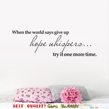 Try It One More Time Inspiration Quote Words Wall Stickers, Home Room Decor Wall Decal Paper Craft Health Sticker Book Store Art